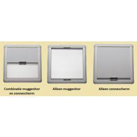 015160 Combi zonnescherm/muggenhor. Luikmaat 470x470mm.