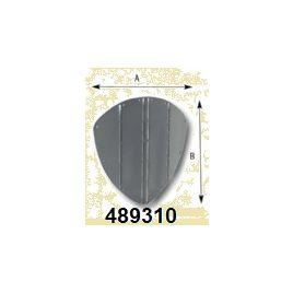 489310 RVS boegbeschermplaat 350x345 mm.