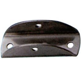 495009 RVS voet - lengte 45 mm - voor buis Ø 22,25 mm.