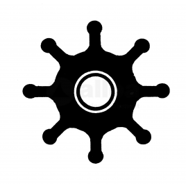 (Imp1) 500134 Impeller - 8 blad - afm. Ø 11,2 x 25,9 x 38,5.