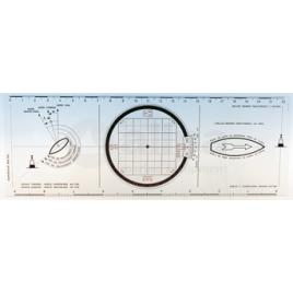 139040 Bretonse plotter - plexiglas koerslineaal.