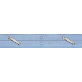 139043 Parallel lineaal van plexiglas 300 mm.