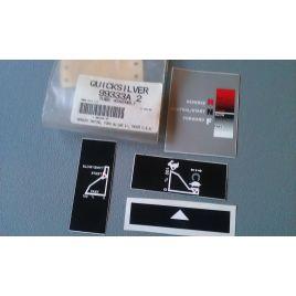 99333A2 stickerset voor stuurknuppel / tiller handle decals voor Mercury en Mariner.