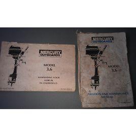 C90-94353 Handleiding en operations & maintenance manual voor 3,6 pk Mercury.