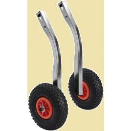 47.368.03 Set RVS strandwielen opklapbaar 160 kg. Lengte 520 mm.