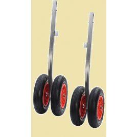 47.368.07 Set RVS dubbele strandwielen opklapbaar 240 kg. Lengte 890 mm.